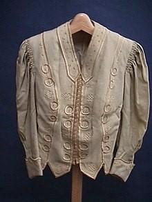 Unbleached silk jacket